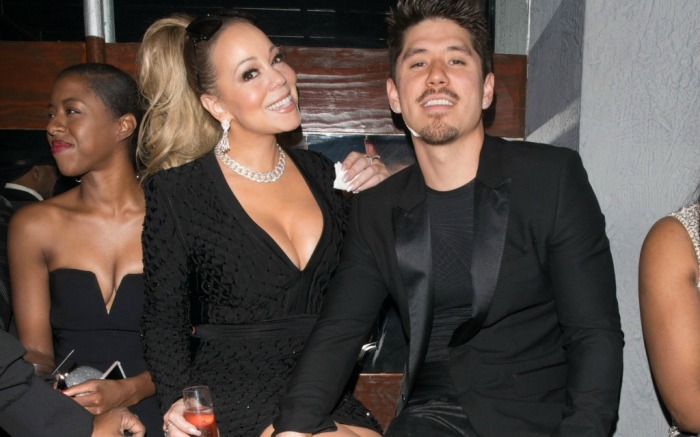 Mariah Carey and her boyfriend Bryan Tanaka on a night out at Floyd Mayweather's birthday party.