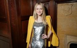 Dakota Fanning pairs her all-metallic look