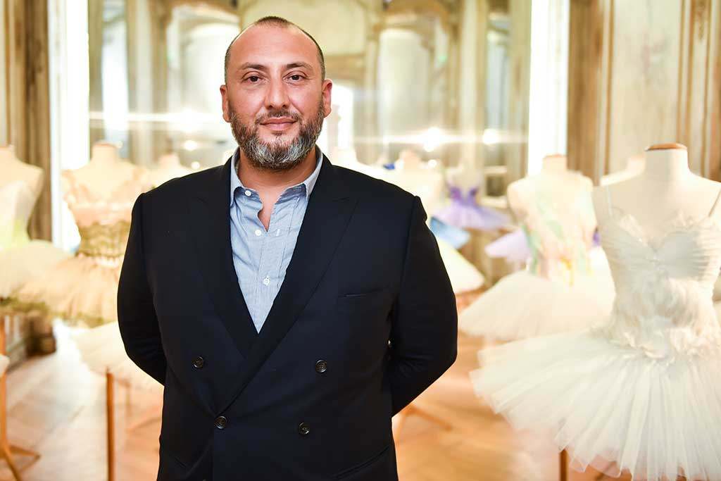 Gilles Assor at Repetto spring 2018 installation in Paris.