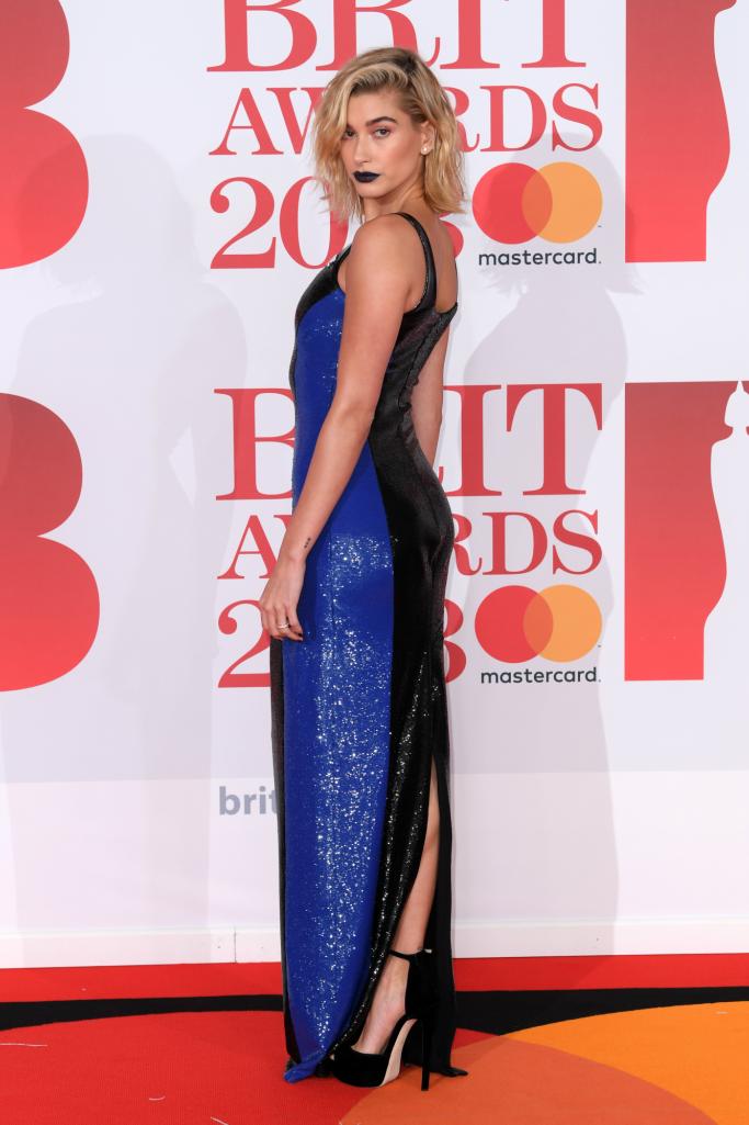 hailey baldwin, brit awards
