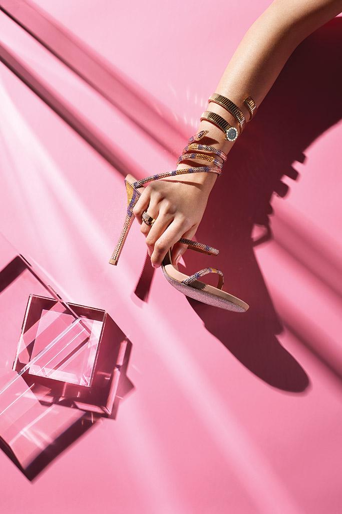 rene caovilla jewelry shoes bulgari watch
