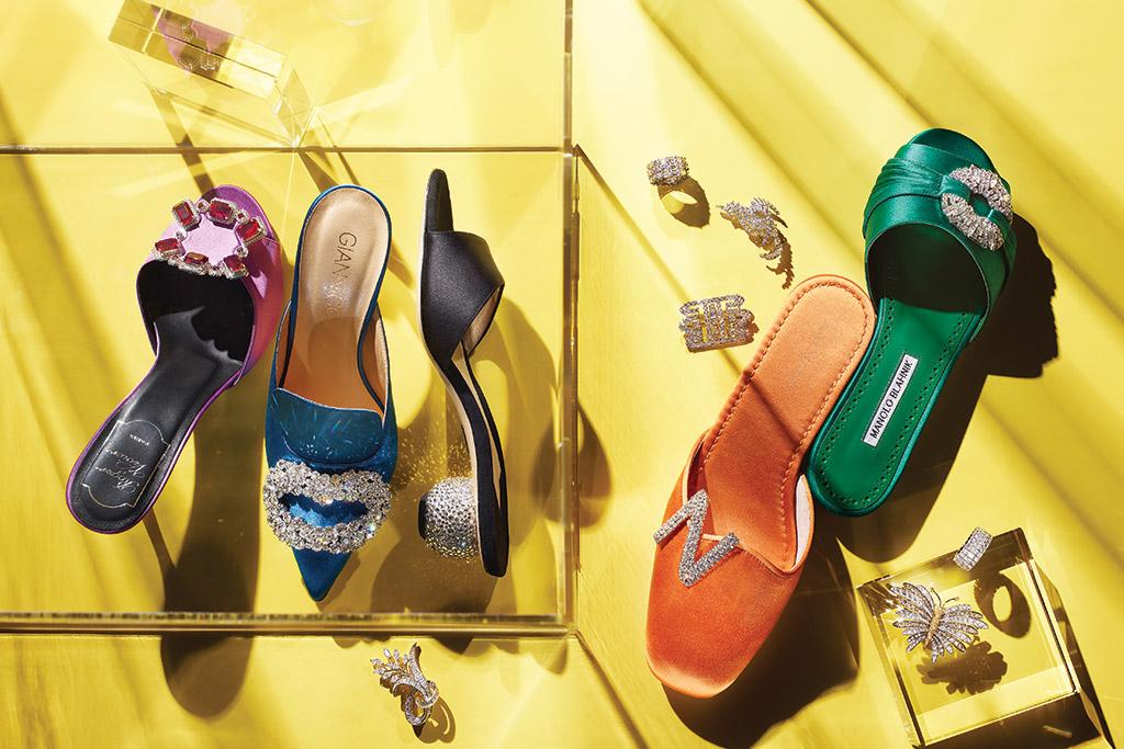 jewelry shoes manolo blahnik stuart weitzman roger vivier giannico paul andrew