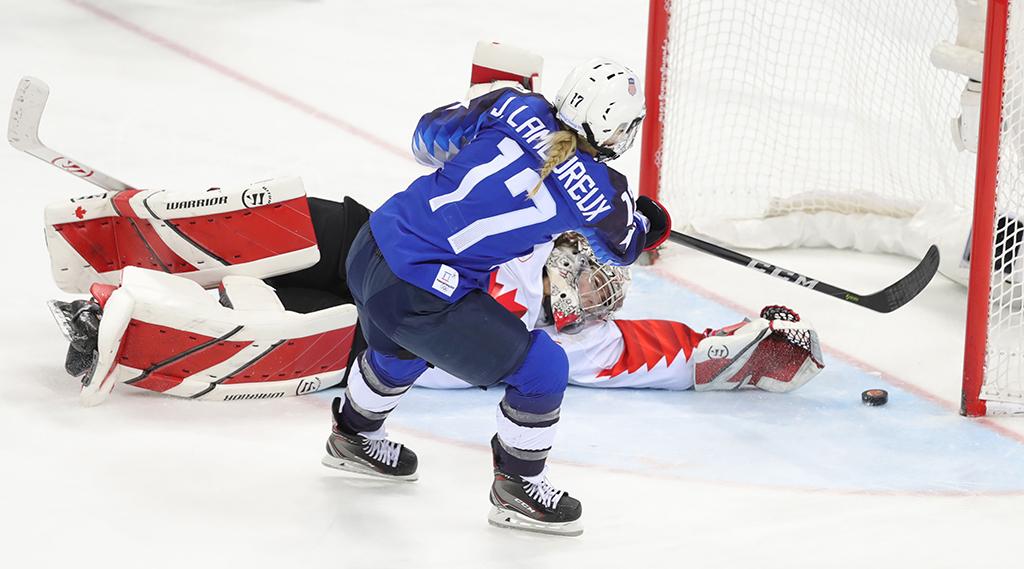 Team USA Jocelyne Lamoureux-Davidson 2018 Winter Games Pyeongchang Olympics