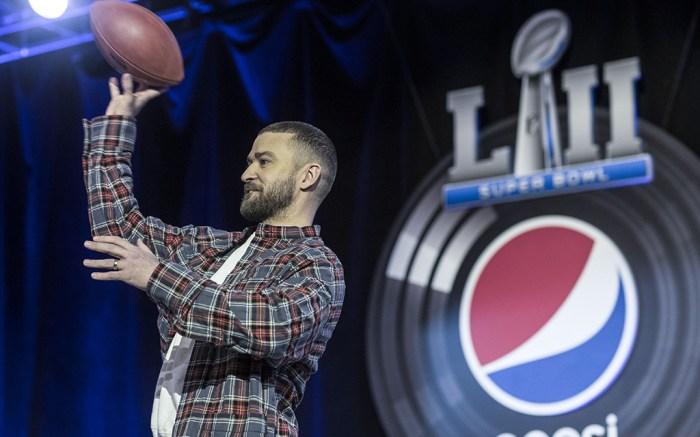 Justin Timberlake Pepsi Half Time Show Super Bowl LII