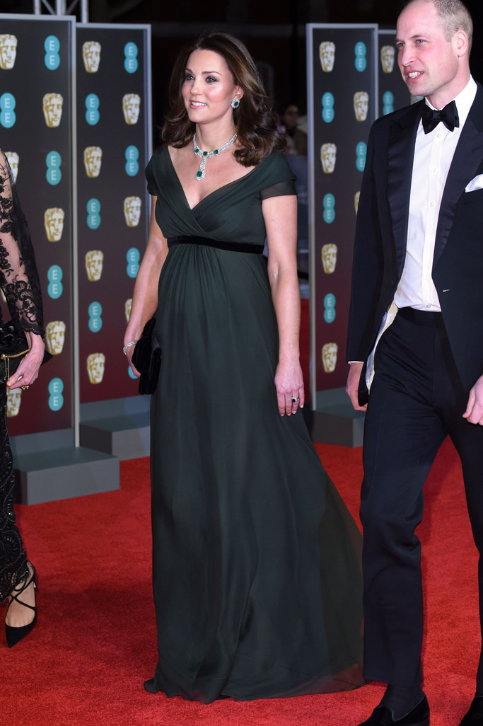 Kate Middleton BAFTAs green dress