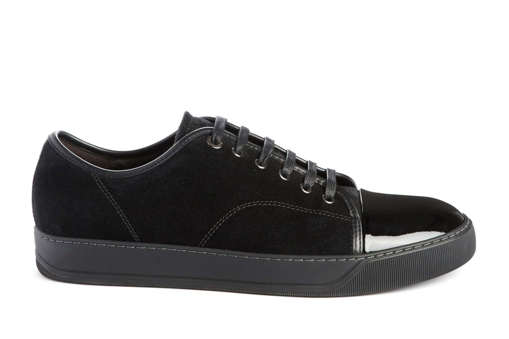 Lanvin Low Top Suede Sneakers