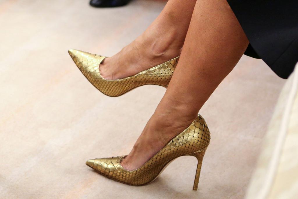 Melania Trump, shoes, white house