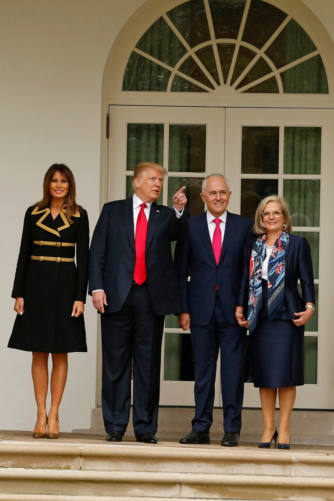 Melania Trump, Donald Trump, Malcolm Turnbull, Lucy Turnbull