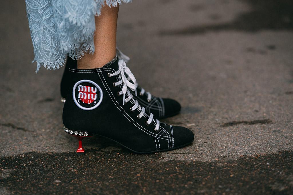 milan fashion week, street style, fall 2018, miu miu