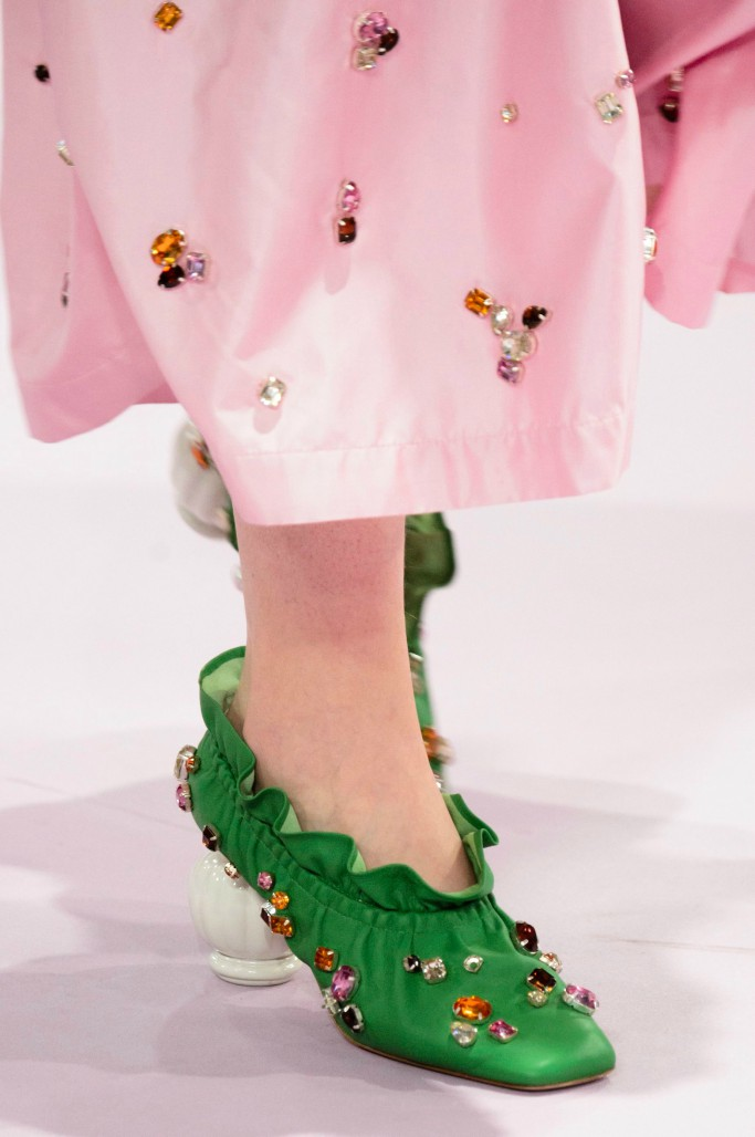 mulberry fall 2018, london fashion week, crazy shoes