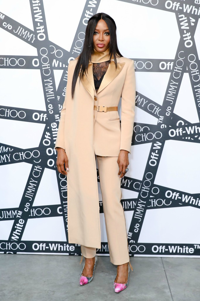 new york fashion week, naomi campbell, jimmy choo x off-white collection dinner