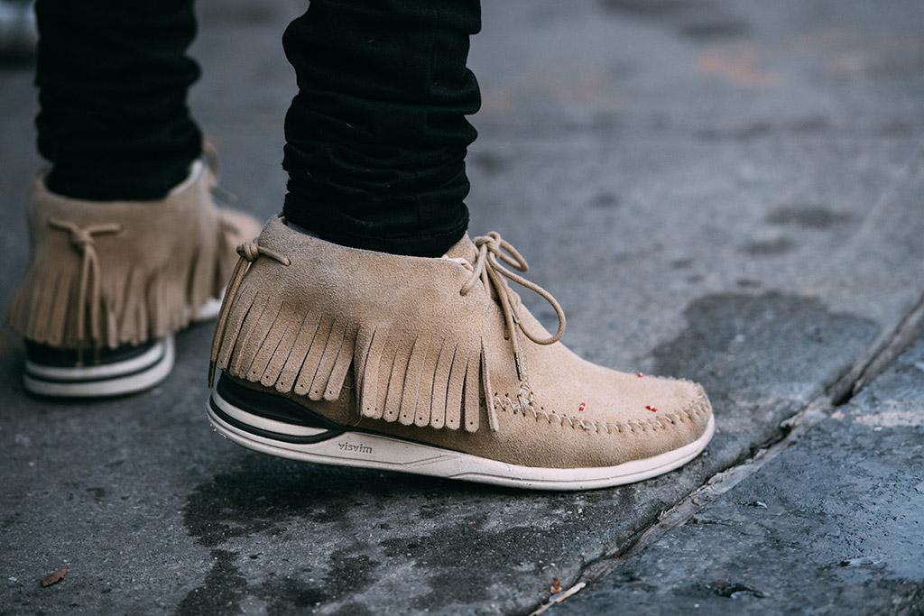 Visvim chukka boots nyfw men's street style