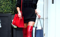 Celebrities in Thigh-High Boots