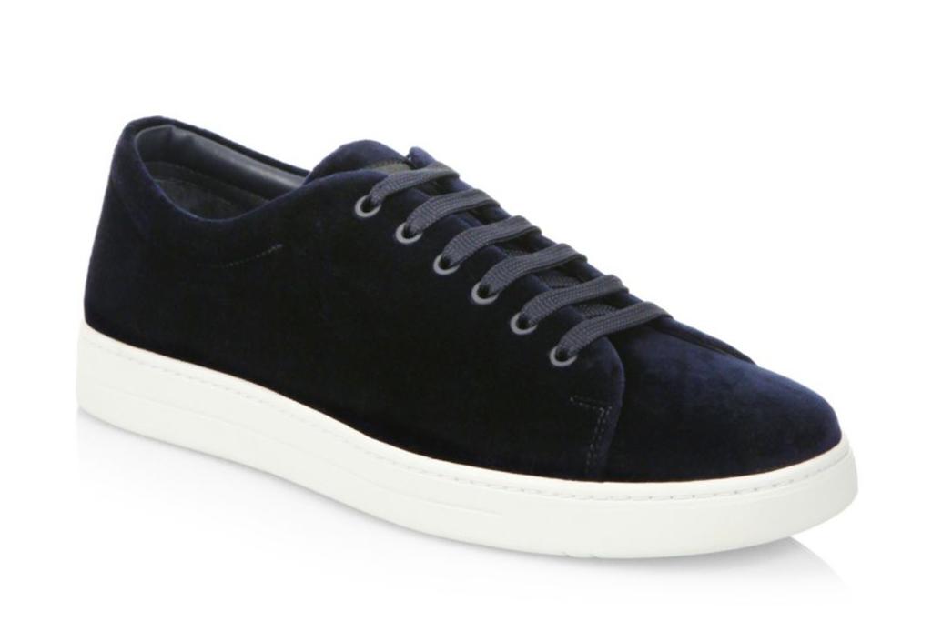 Prada Velvet Low-Top Sneakers