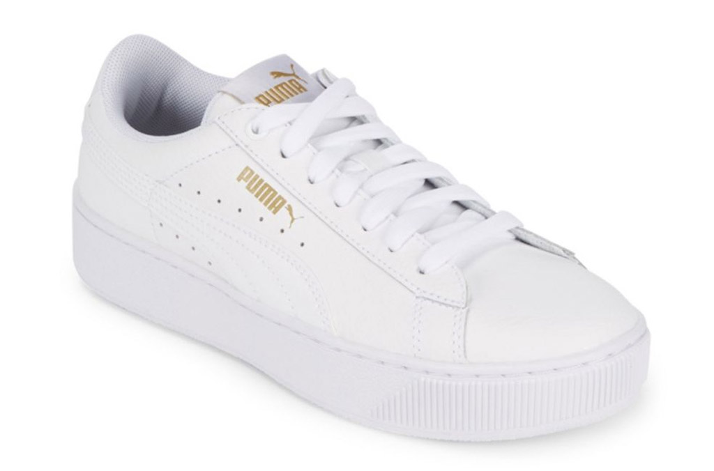 puma Lace-Up Round Toe Sneakers white