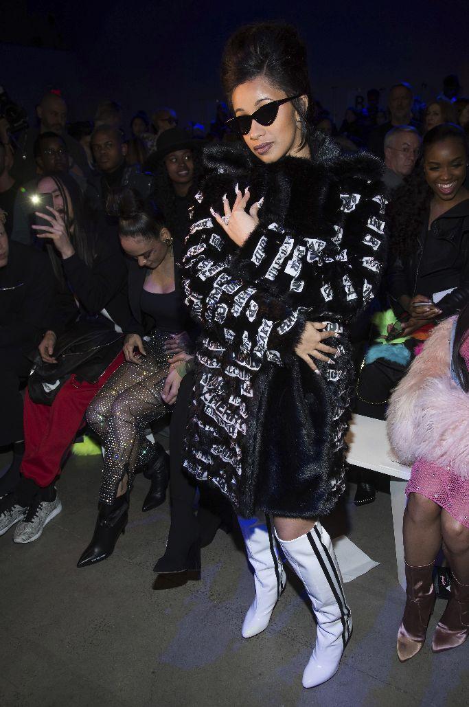 cardi b, jeremy scott, new york fashion week, front row