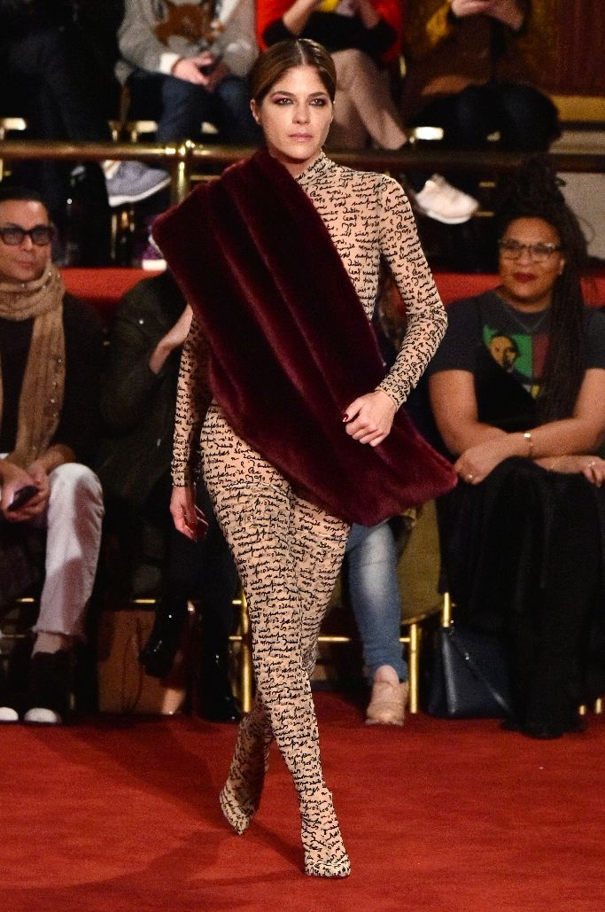 selma blair, christian siriano fall 2018, new york fashion week