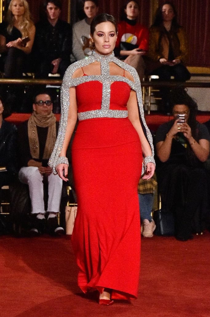 ashley graham, christian siriano fall 2018, new york fashion week
