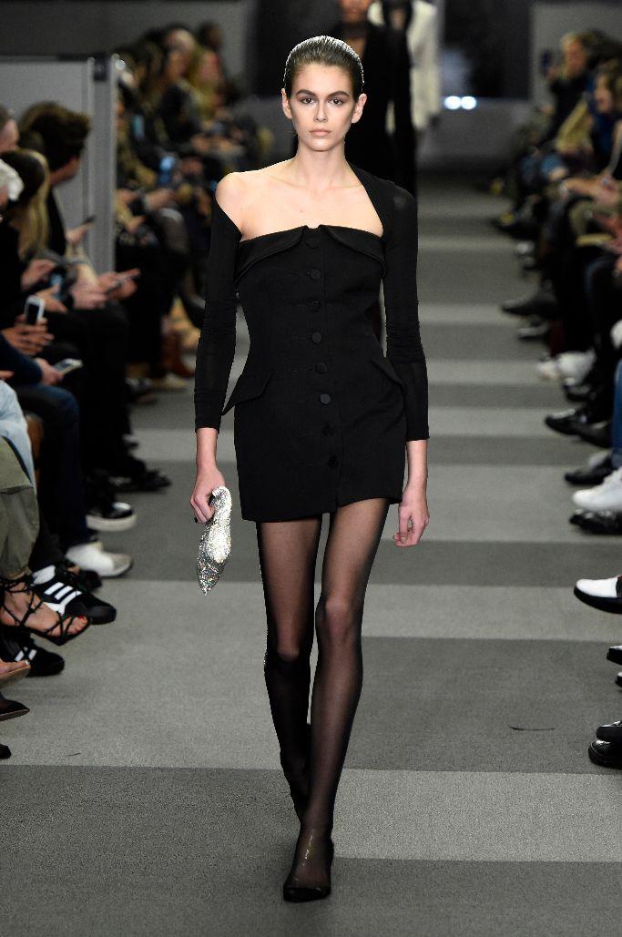 kaia gerber, alexander wang fall 2018, new york fashion week