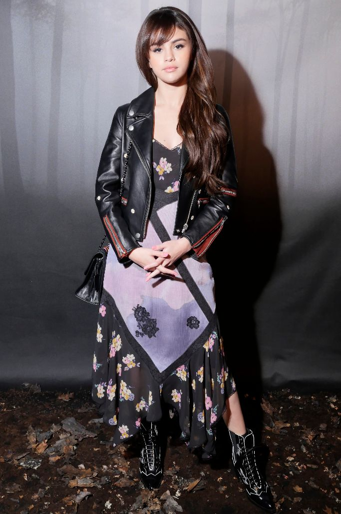 selena gomez, front row, coach 1941 fall 2018, new york fashion week