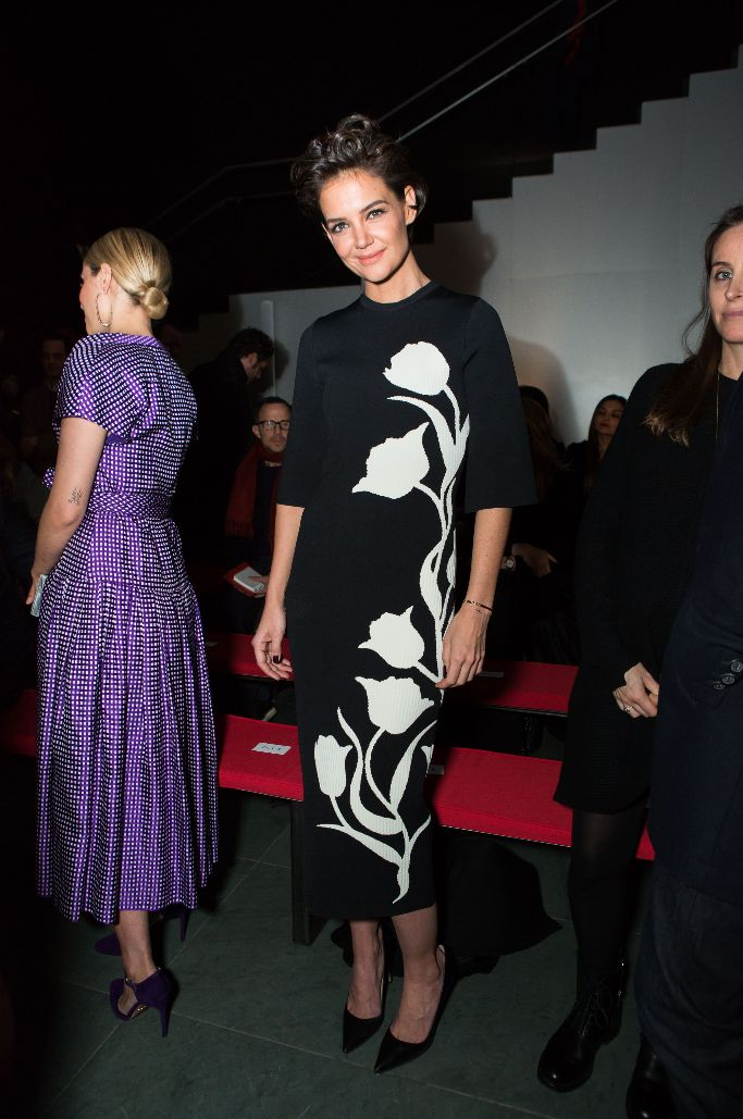 katie holmes, carolina herrera fall 2018 show, new york fashion week