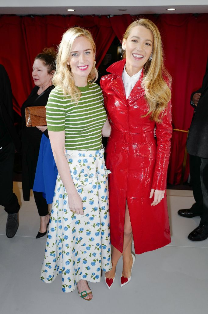 emily blunt, blake lively, michael kors, front row, new york fashion week