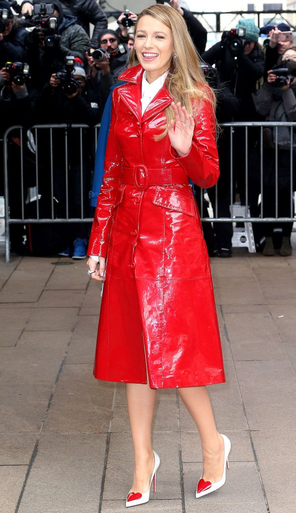 Blake Lively attends Michael Kors NYFW show.