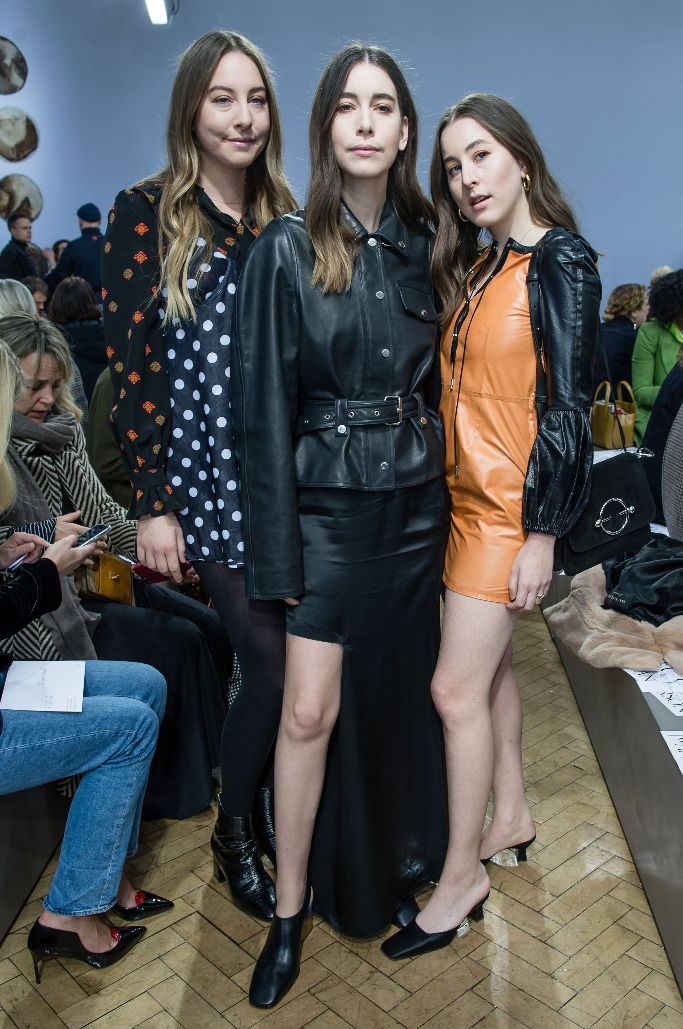 jw anderson, haim, front row, london fashion week