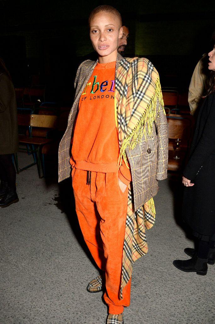 Adwoa Aboah, front row, burberry, london fashion week