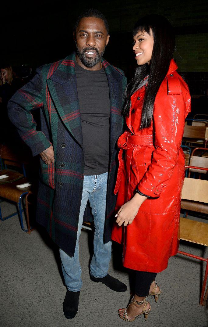 Idris Elba and Sabrina Dhowre, front row, burberry, lonodn fashion week