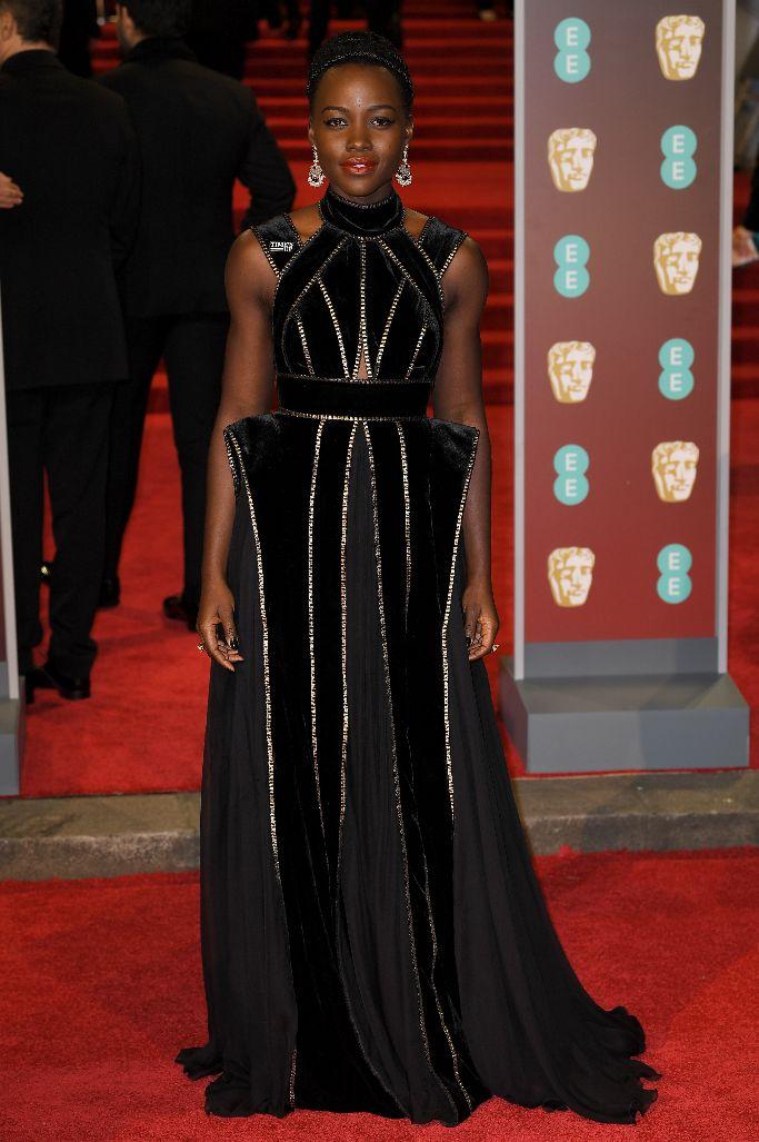 Lupita Nyong'o, 2018 baftas, red carpet