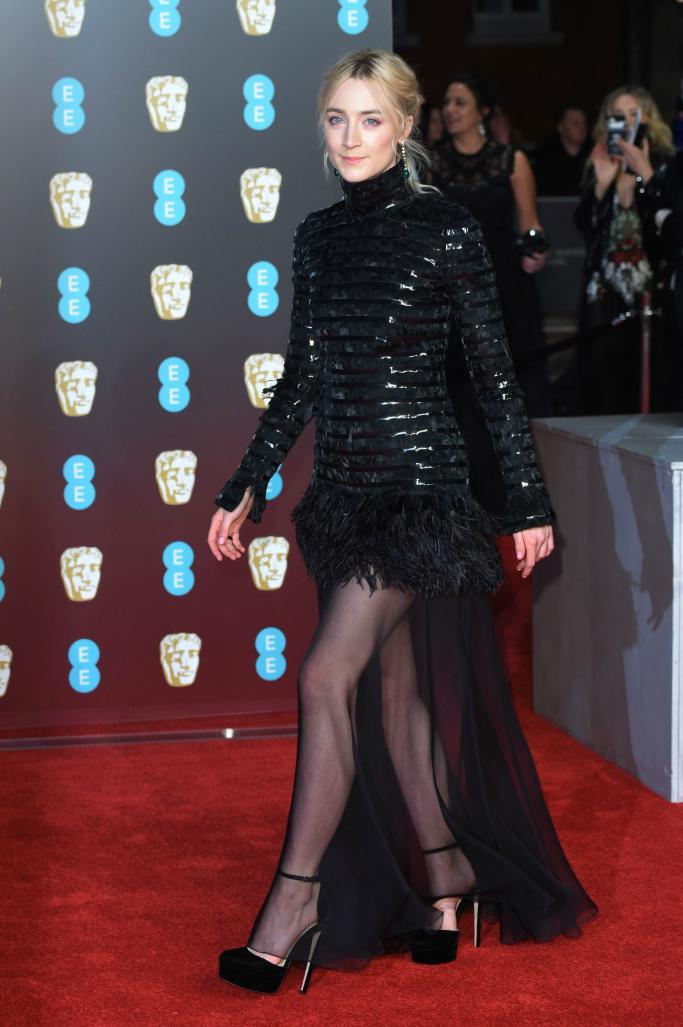 Saoirse Ronan, 2018 baftas, red carpet