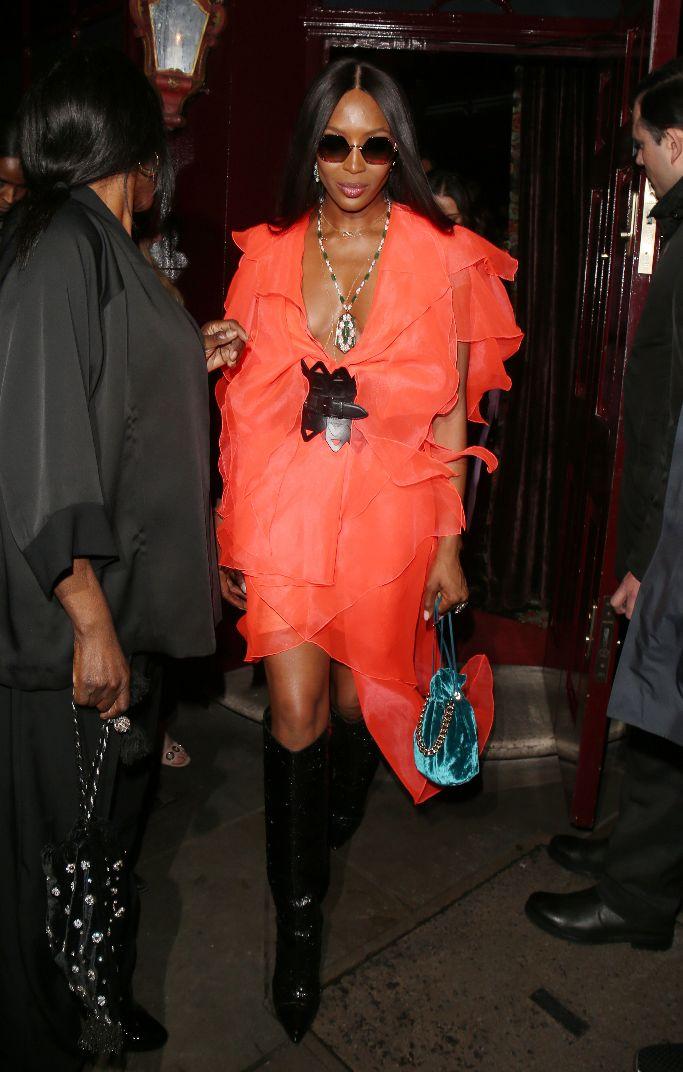 naomi campbell, london fashion week