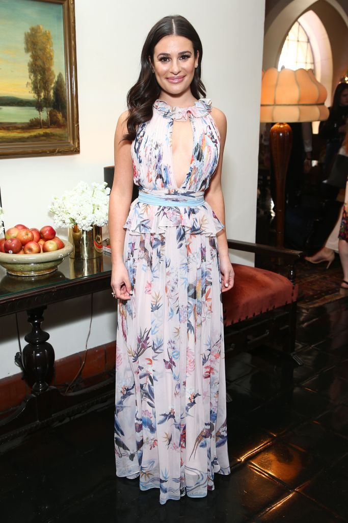 Lea Michele attends the CFDA Variety and WWD Runway to Red Carpet event in L.A.