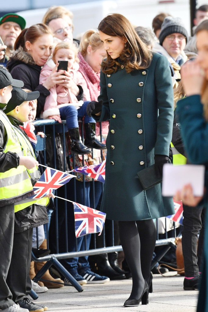 Kate Middleton meets a community of people outside The Fire Station in Sunderland, U.K.