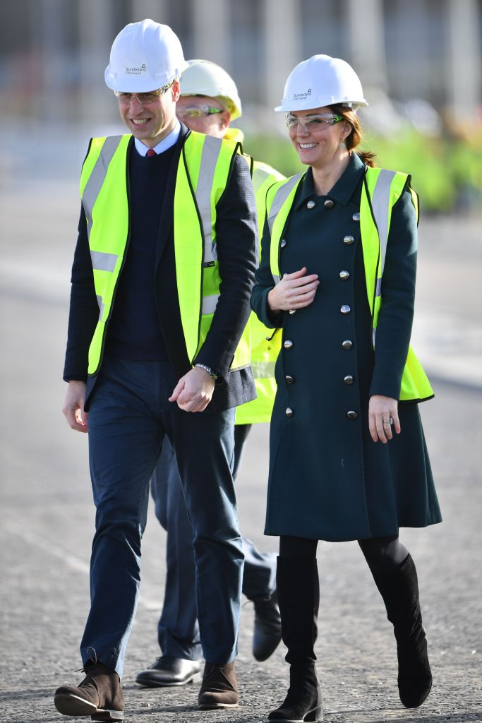 Prince William and Kate Middleton travel to see the Northern Spire, an ambitious and striking new bridge over the River Wear.