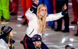 lindsey vonn, 2018 olympics closing ceremony