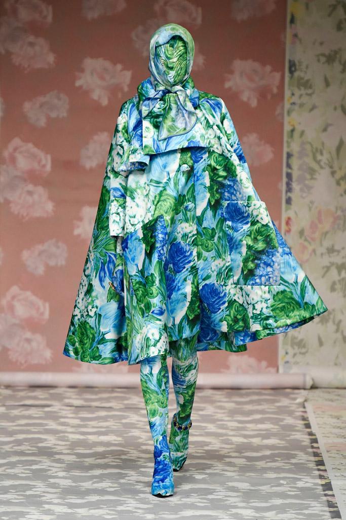 Richard Quinn fall 2018 ready to wear london fashion week