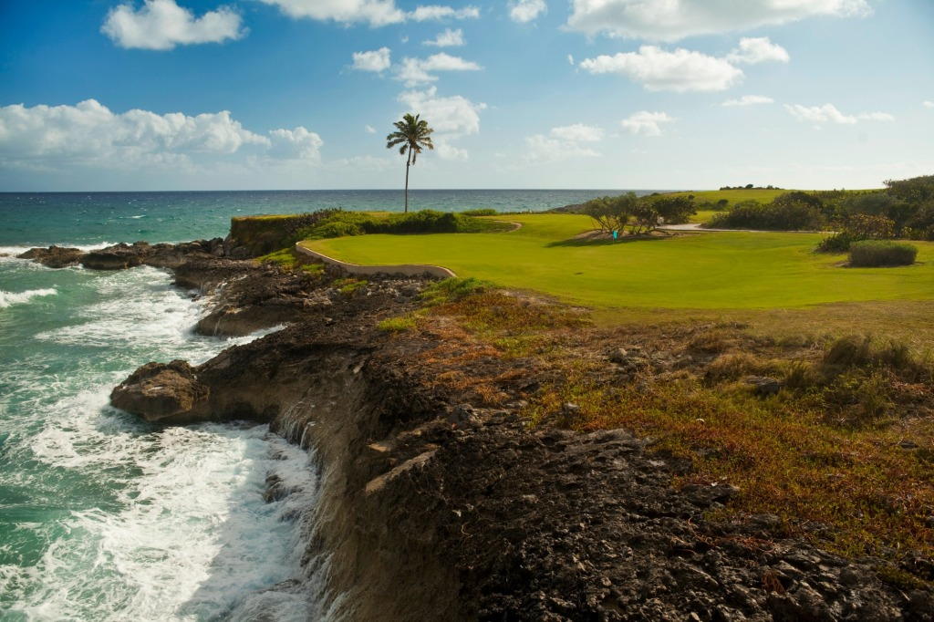 A view of the beachside golf course designed by Greg Norman.