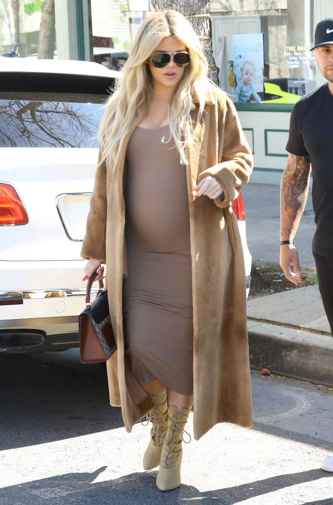 Khloé Kardashian and Kris Jenner leave baby shopping in L.A. together.