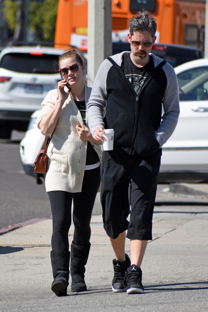 Amy Adams out and about with her husband Darren Le Gallo.