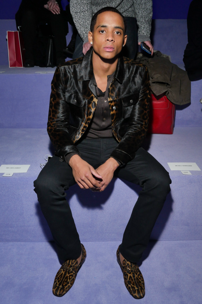 tom ford front row, new york men's fashion week, Cordell Broadus