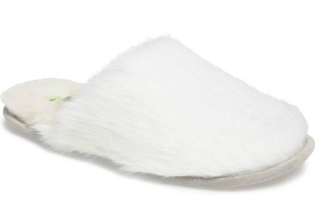 patricia green Snow Genuine Rabbit Fur Slipper