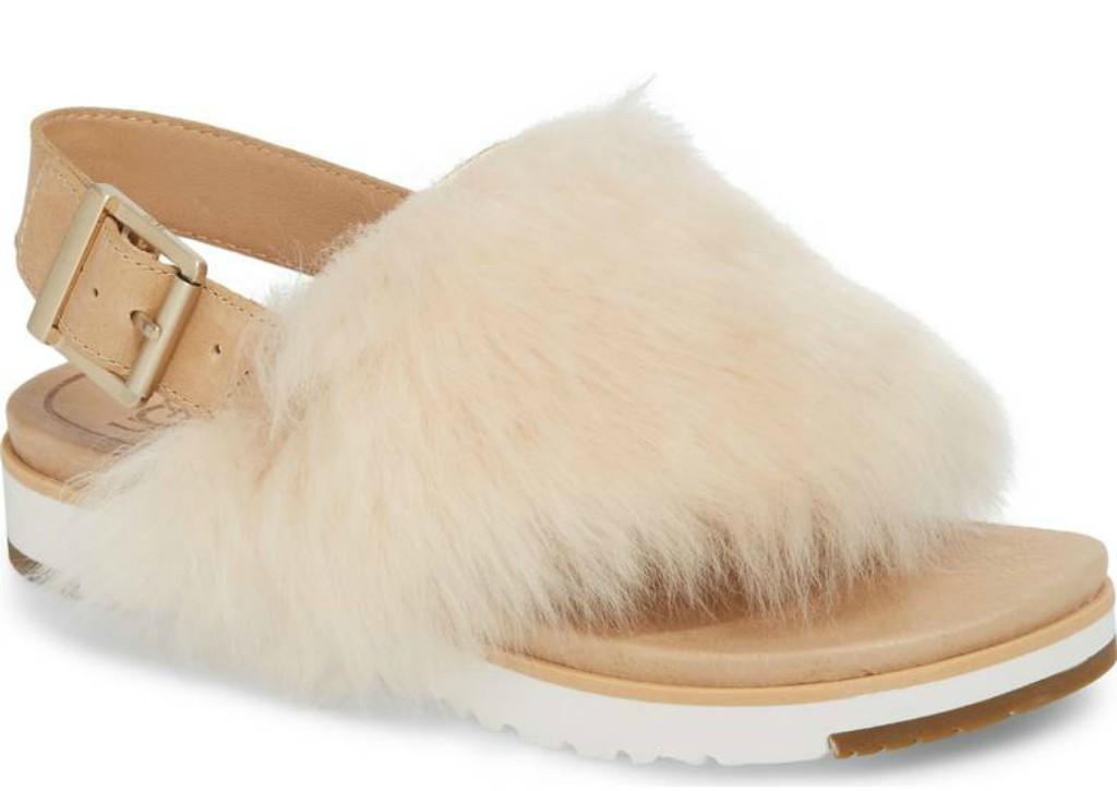 Holly Genuine Shearling Sandal