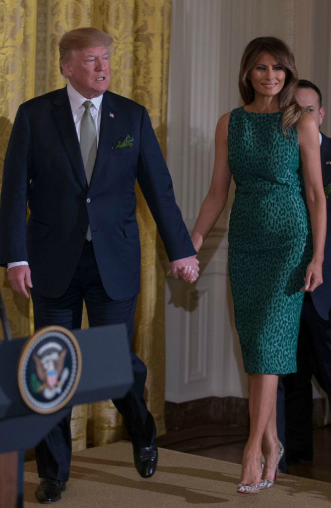 Melania Trump green dress