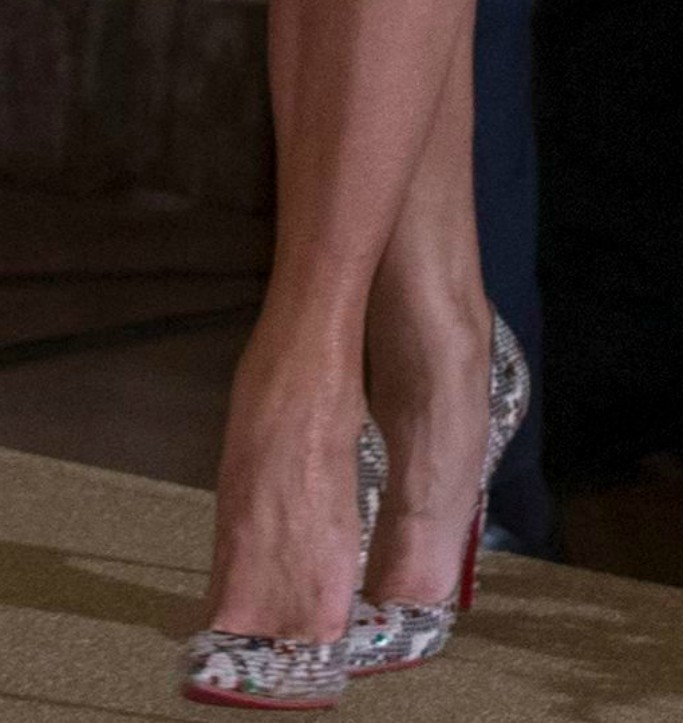 melania trump shoes, christian louboutin python pumps