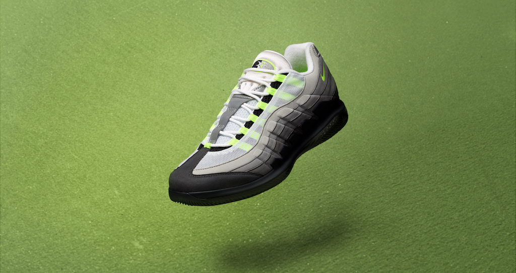 Apellido Buen sentimiento Mathis  Roger Federer Nike Vapor x Air Max 95 Collab a First for Tennis Shoes –  Footwear News