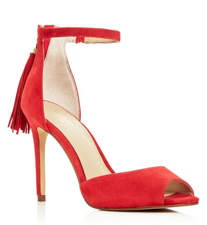 Botkier Women's Anna Suede Ankle Strap High Heel Sandals