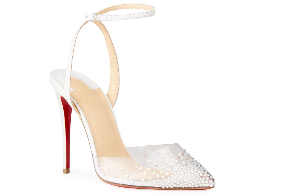 Christian Louboutin Spikaqueen Crystal Transparent Pump, clear shoes