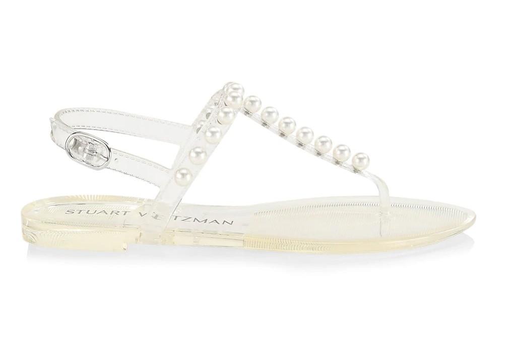 stuart weitzman goldie, clear shoes